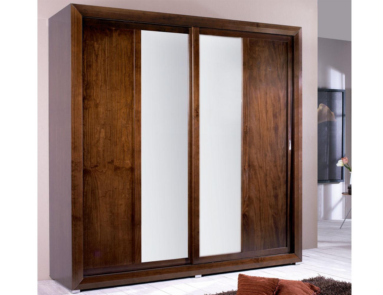 Armario puertas correderas luna madera composicion261
