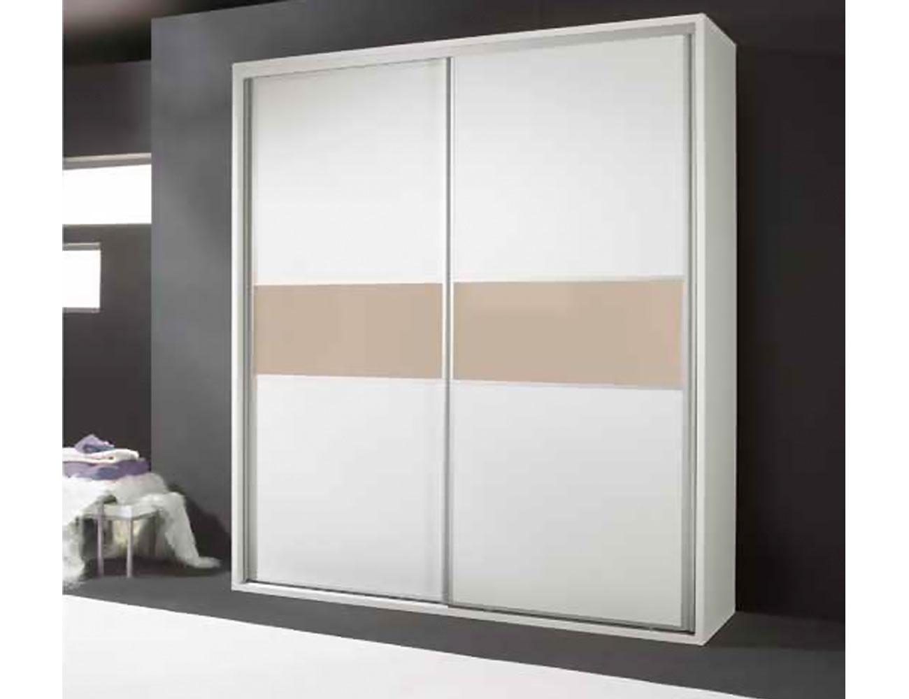 Armario puertas correderas moderno blanco vison