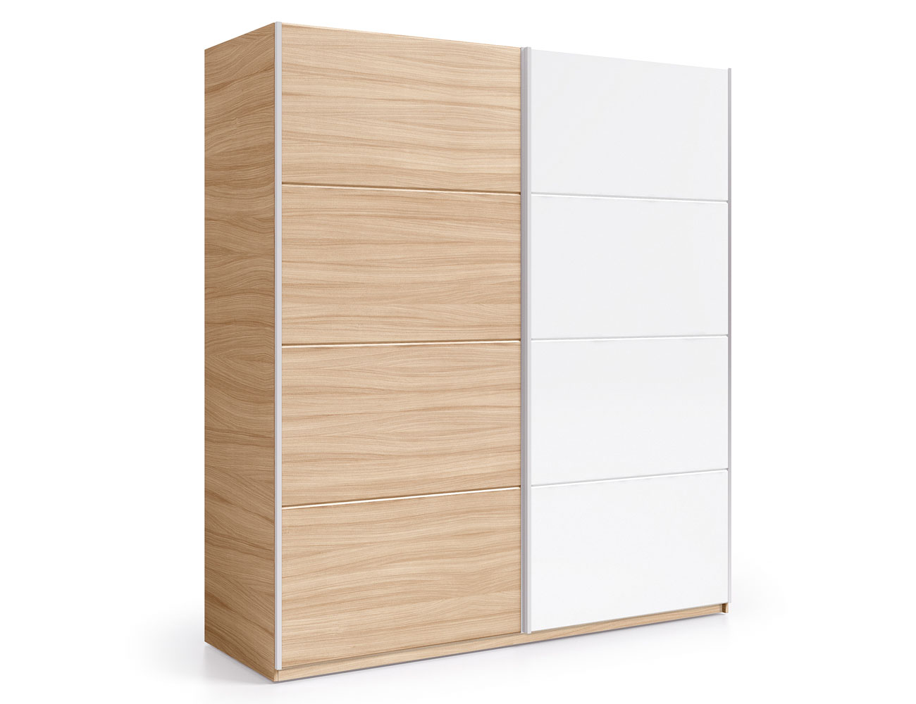 Armario puertas correderas roble blanco 180 cm 2
