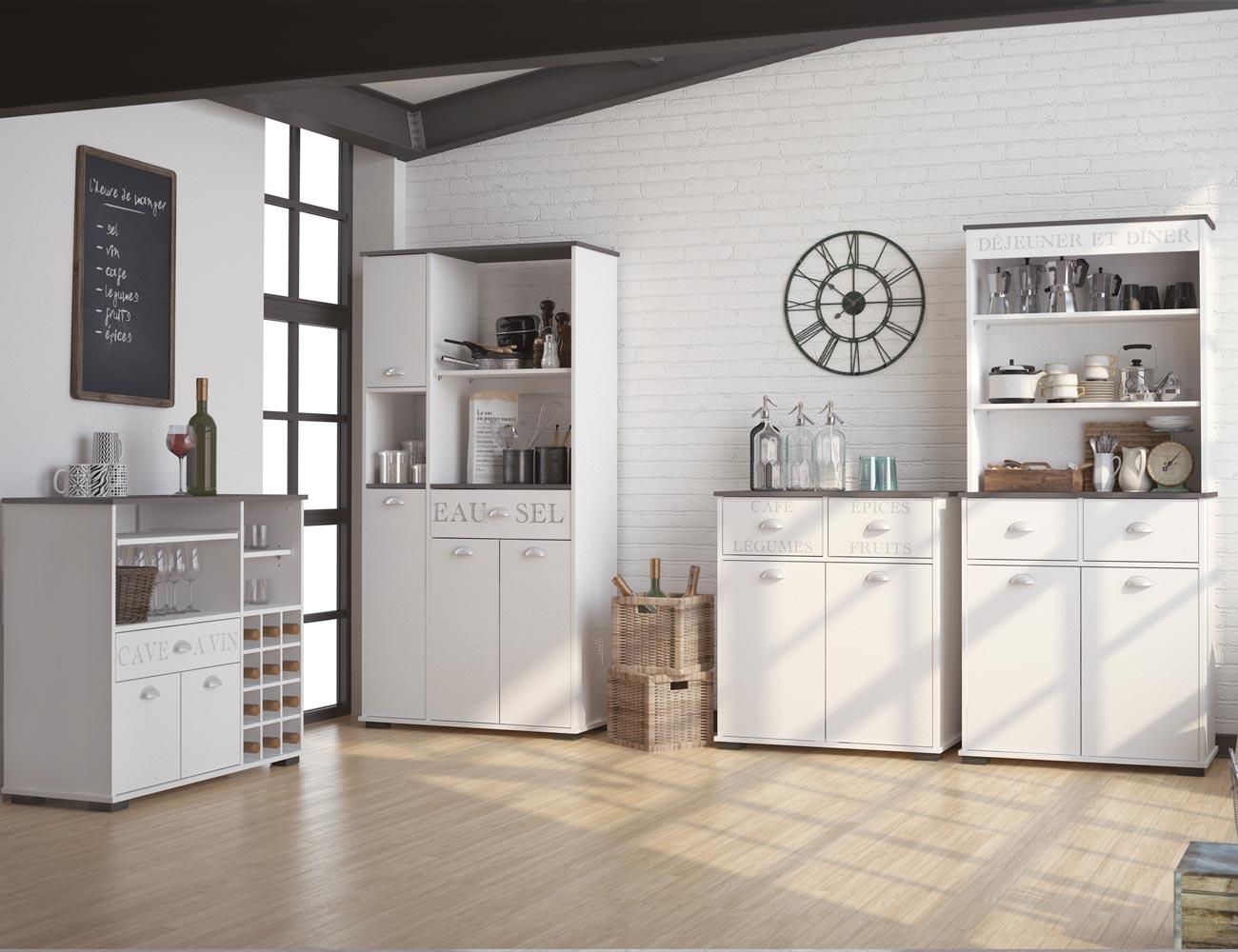 Mueble buffet de cocina de 180 cm de alto 3416 factory for Buffet cocina mueble