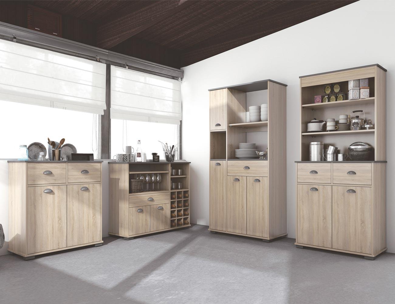 Mueble Buffet de cocina de 90 cm de alto (21464) | Factory del ...