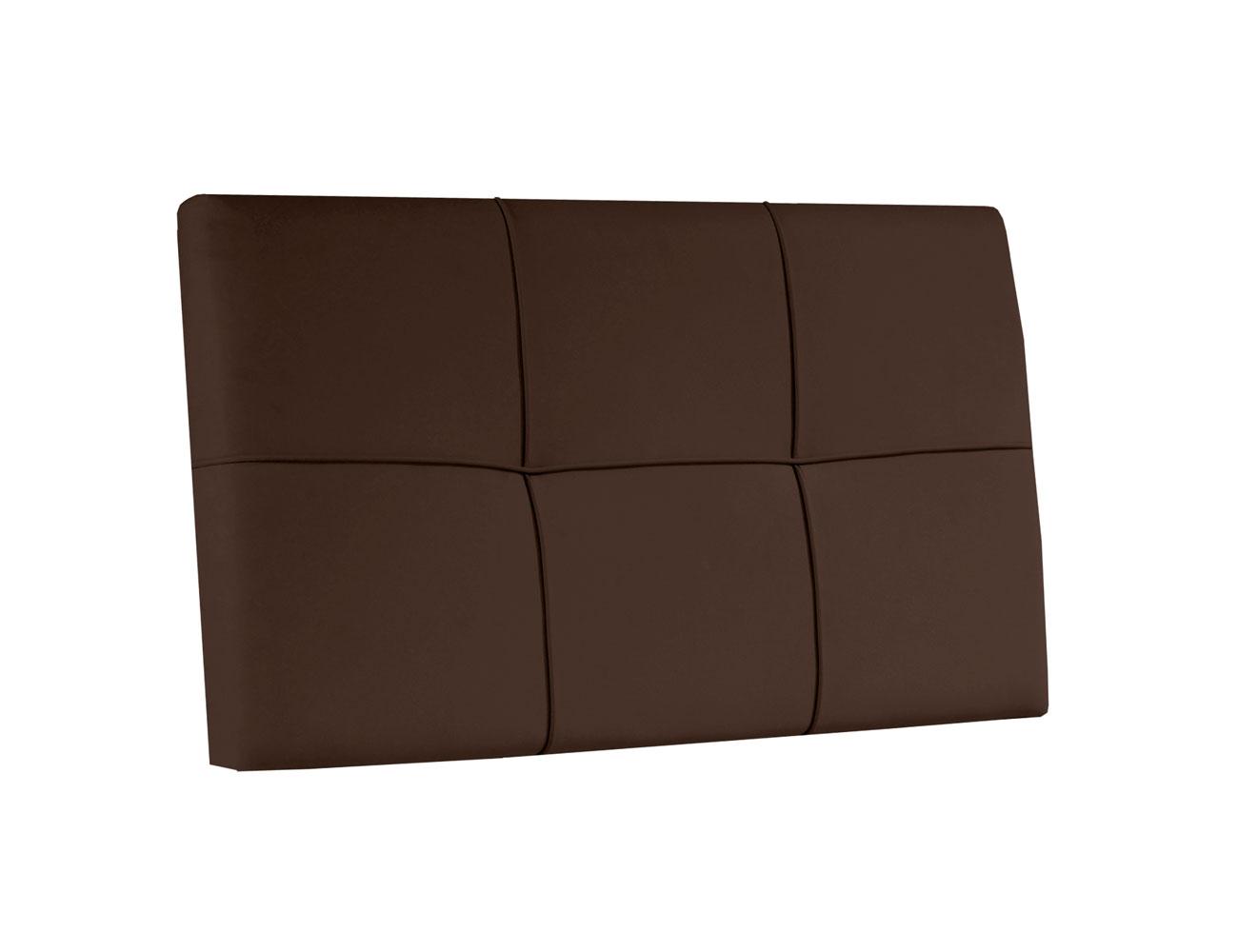 Cabecero colgar polipiel cuadros chocolate juvenil