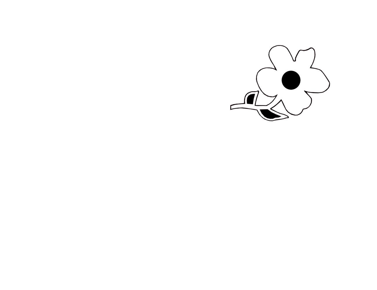 Cabecero infantil flor blanco