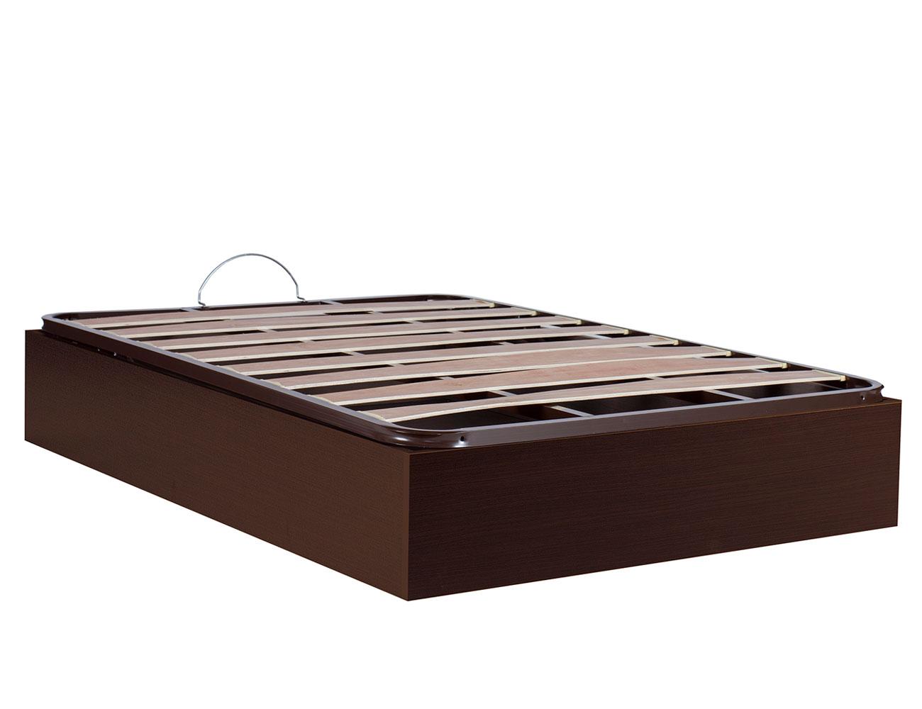 Canape madera somier basic wengue cerrado