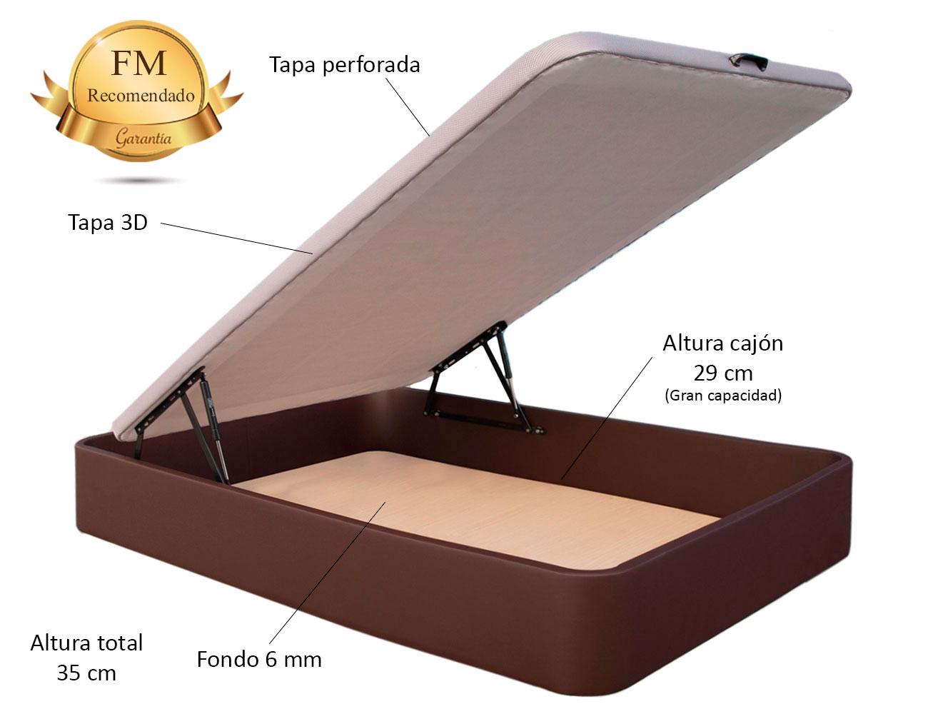 Canape polipiel chocolate detalle