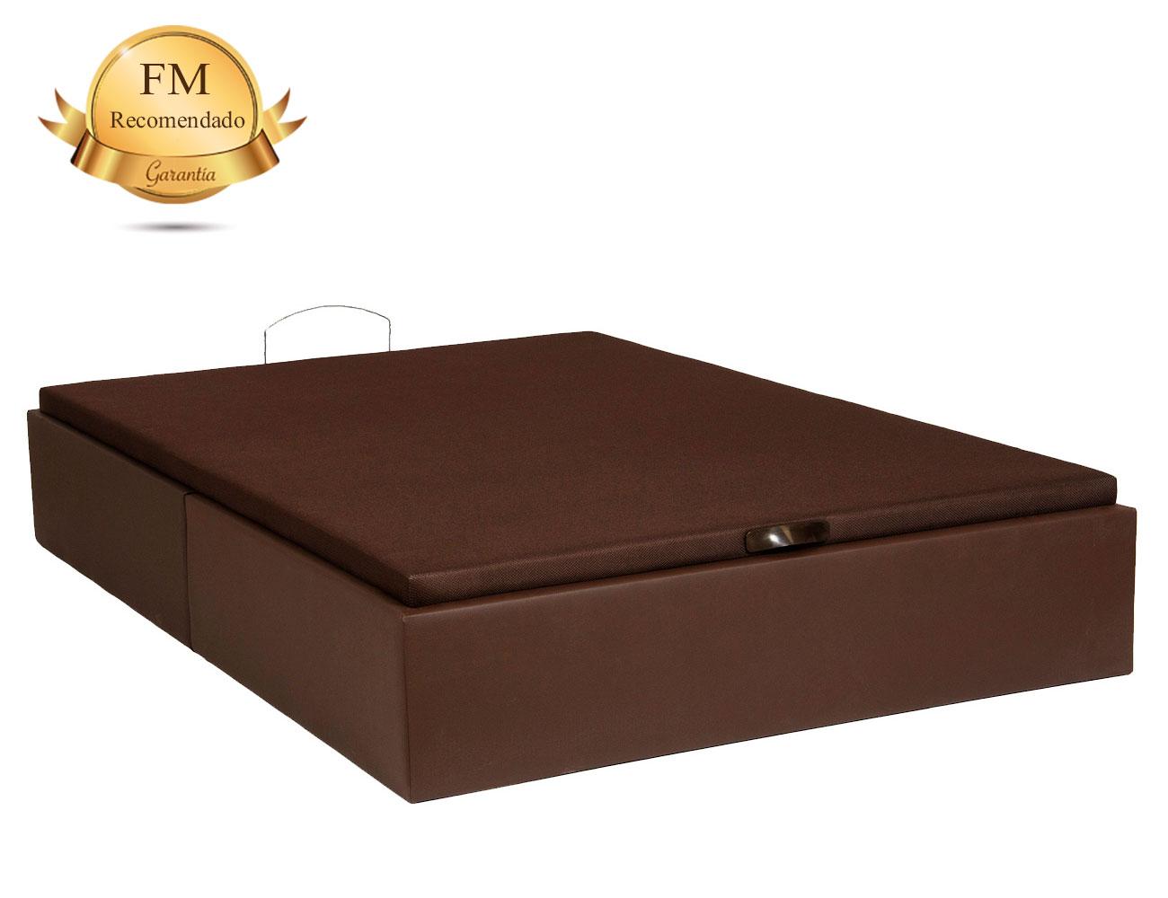 Canap tapizado polipiel con esquinas rectas con tapa for Canape 90x180