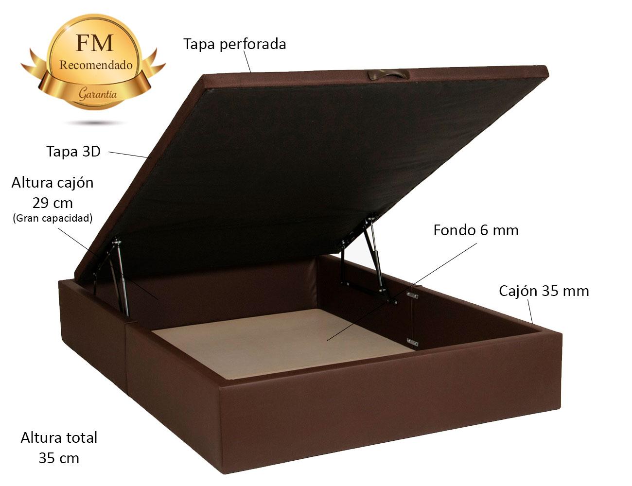 Canape polipiel chocolate recto detalle