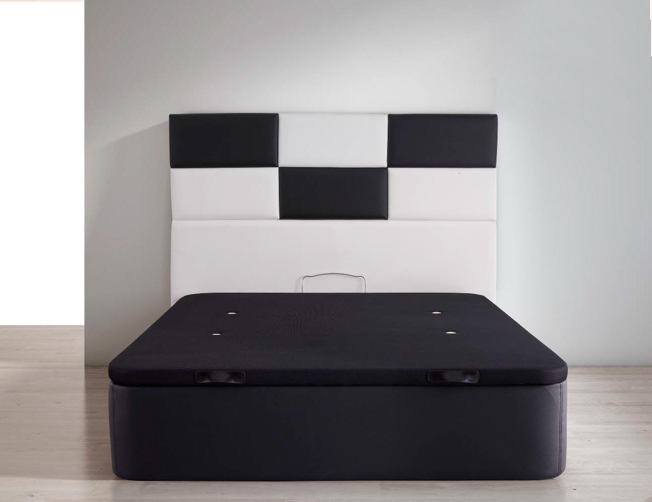 Canape polipiel tapa 3d negro aireado polimax