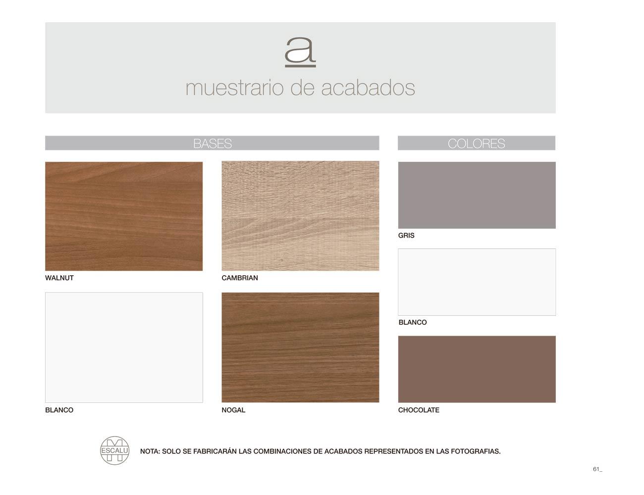Colores de armarios trendy with colores de armarios for Color cambrian muebles