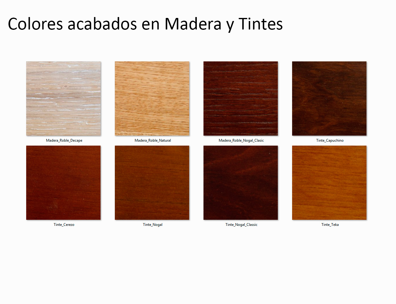 photo collection en madera color nogal