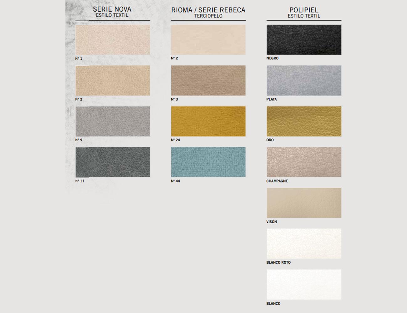 Colores textil