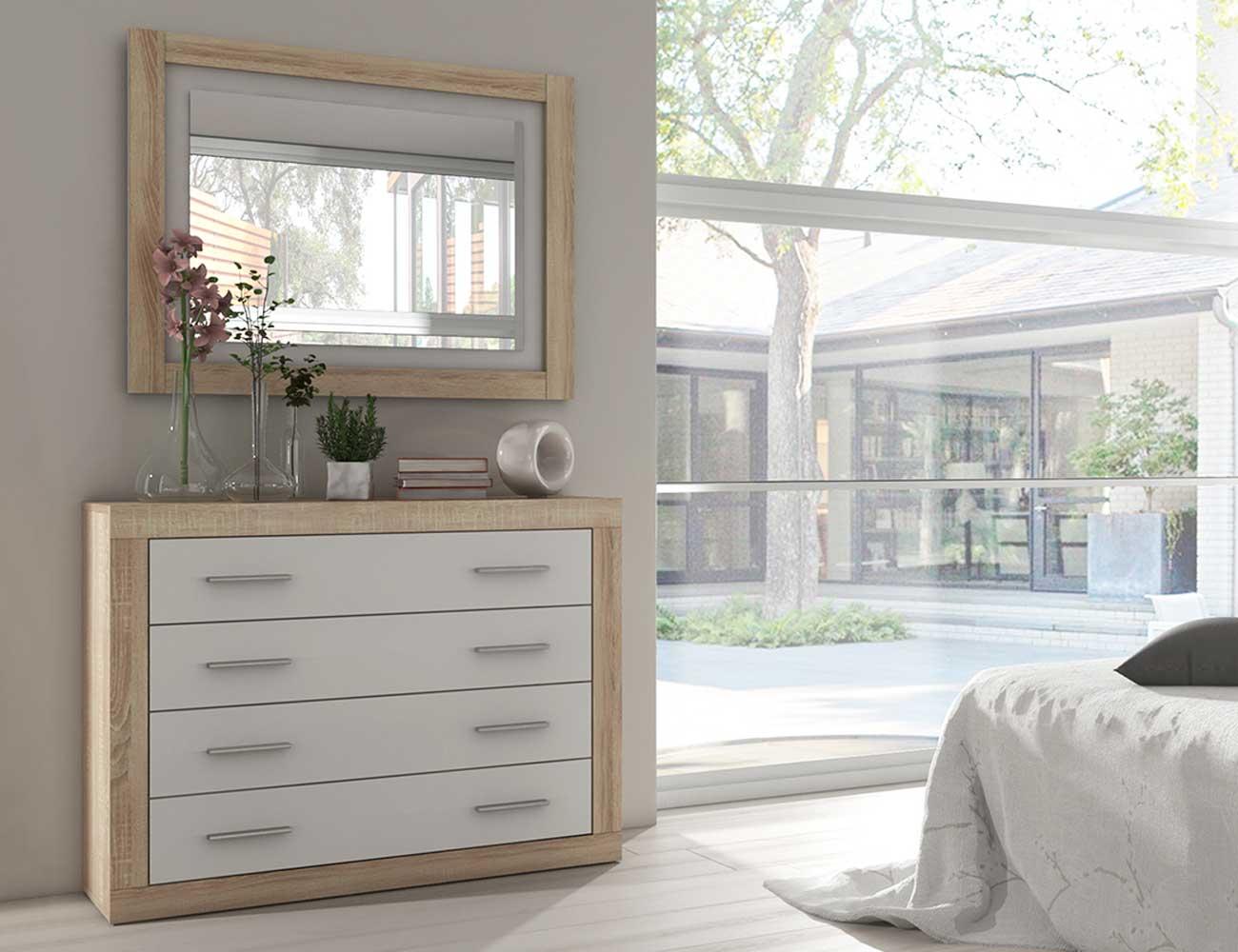 Comoda dormitorio matrimonio moderno cambrian blanco1