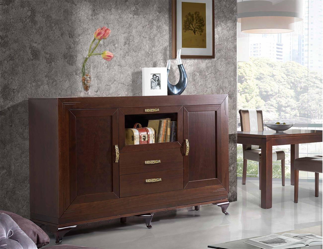 Composicion 11 mueble salon comedor vitrina aparador silla mesa2