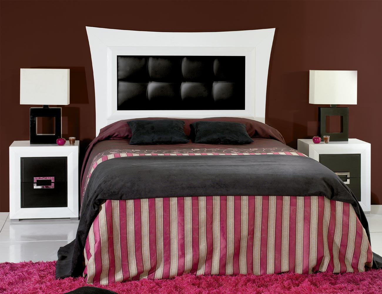 Composicion23 dormitorio matrimonio cabecero tapizado