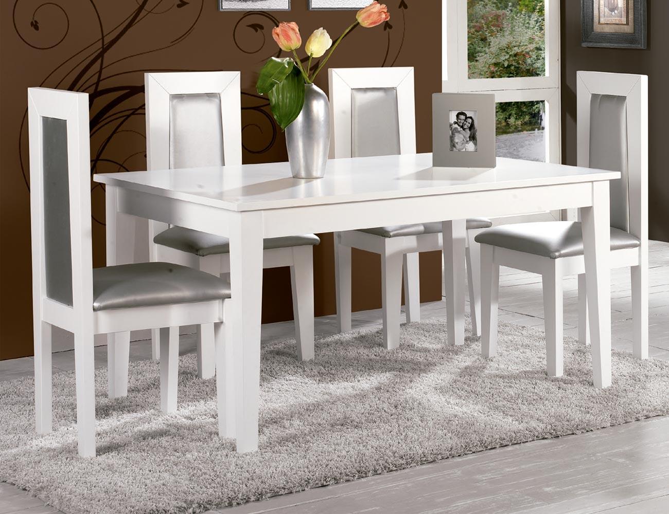 Composicion32 mesa salon comedor sillas tapizadas