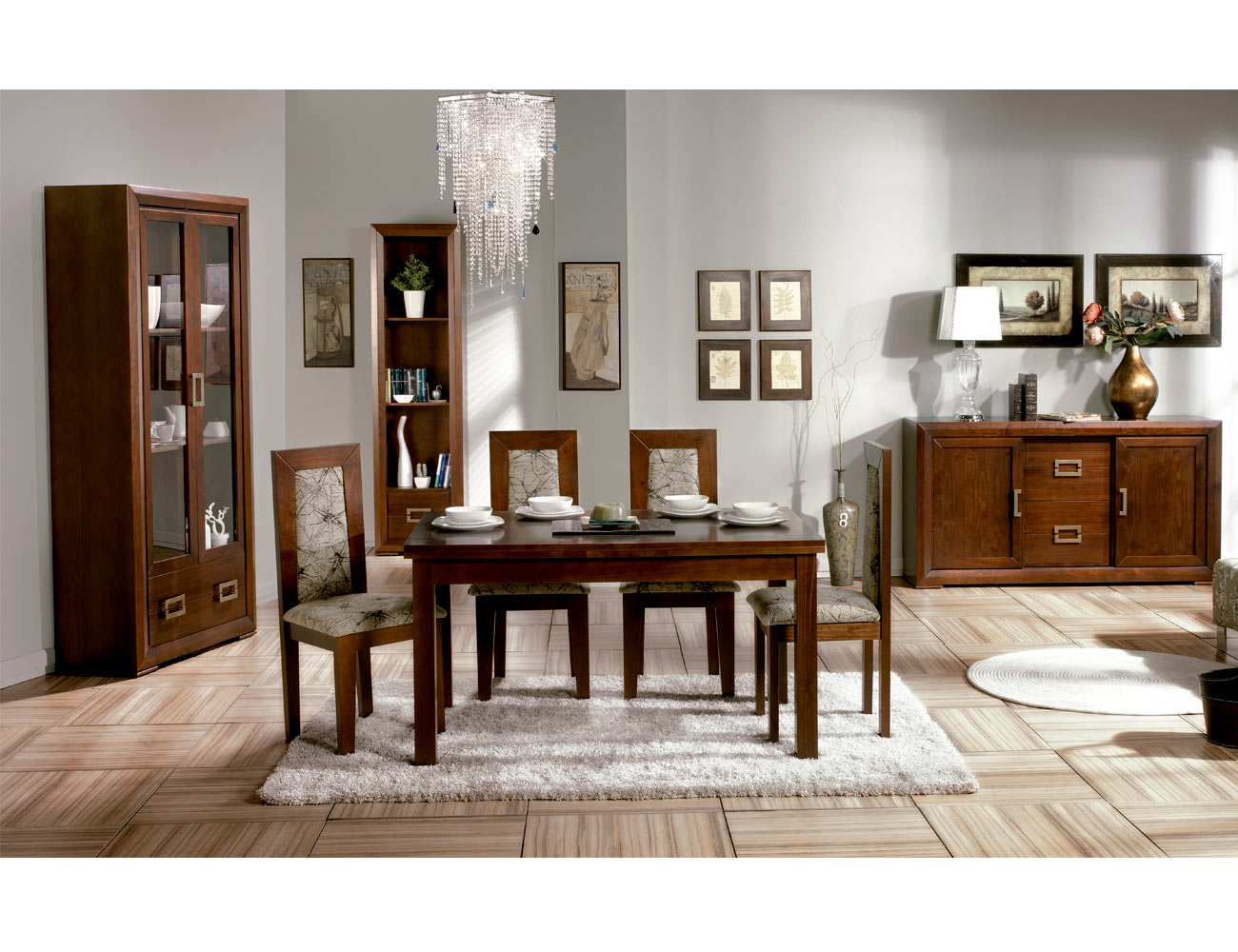 Composicion34 mueble salon comedor madera8