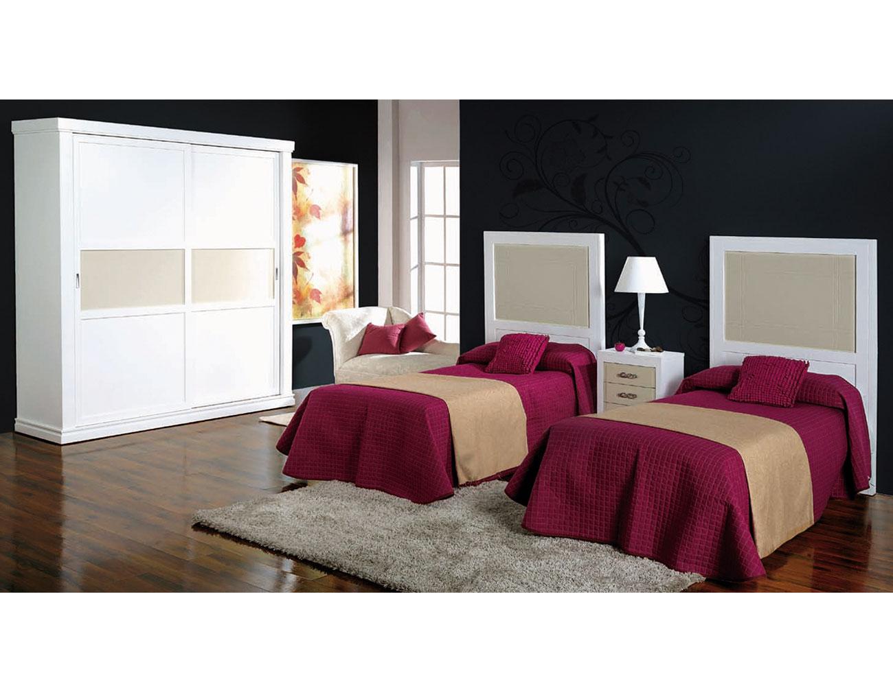 Composicion50 dormitorio armario madera cabecero 90 2