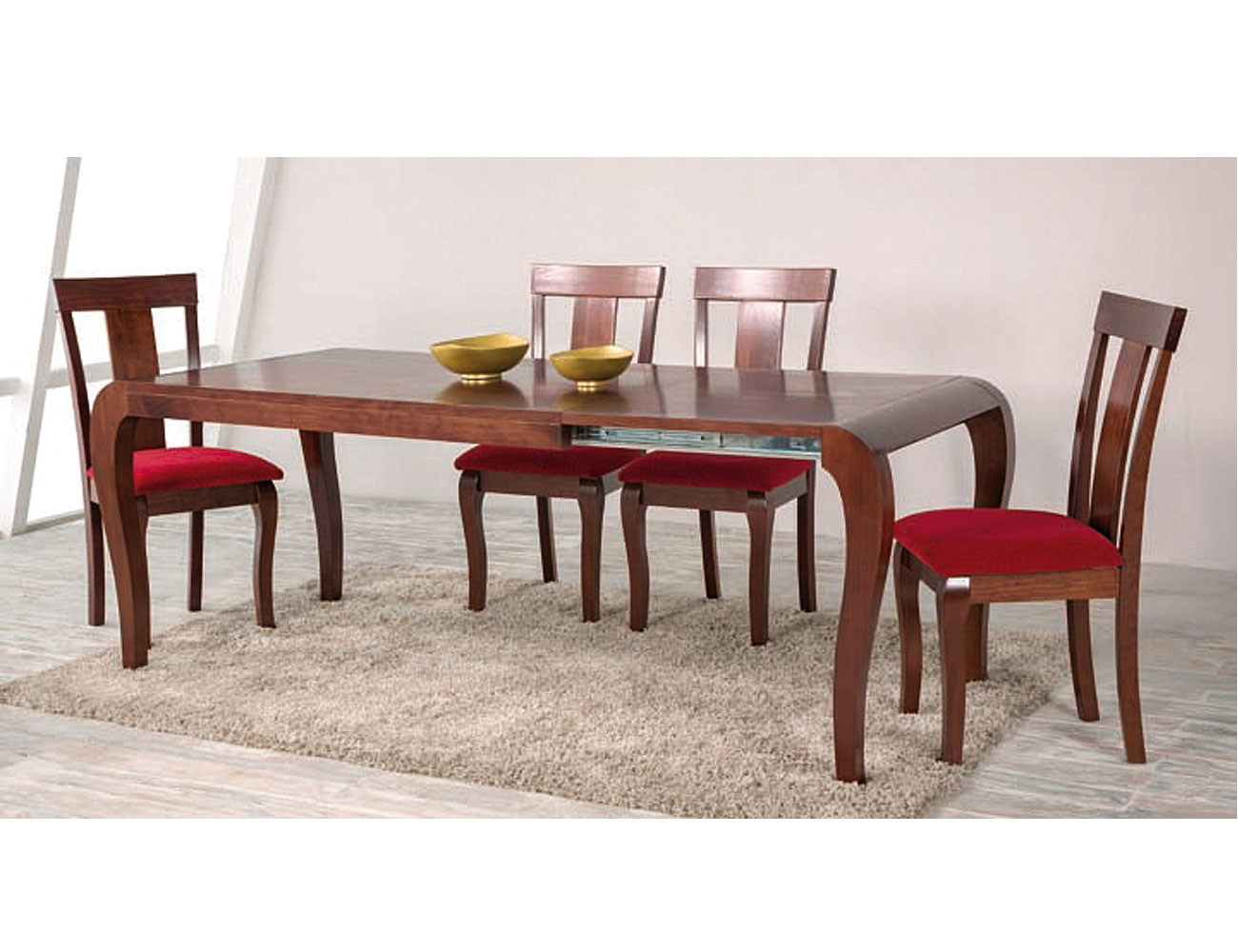 Composicion60 mesa extensible abierta silla salon