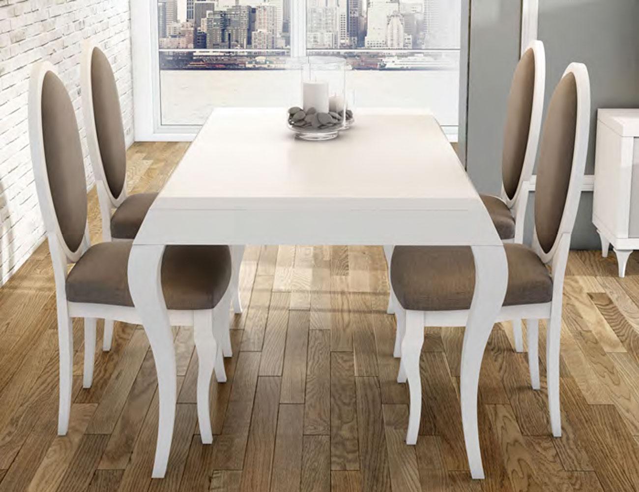 Conjunto mesa sillas ovaladas neoclasico1