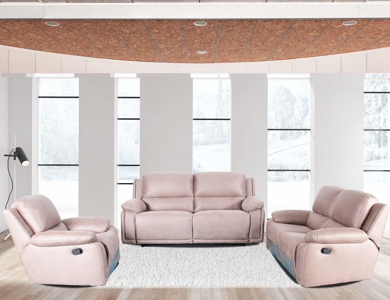 Conjunto sofa 3 2 1 plazas relax arena