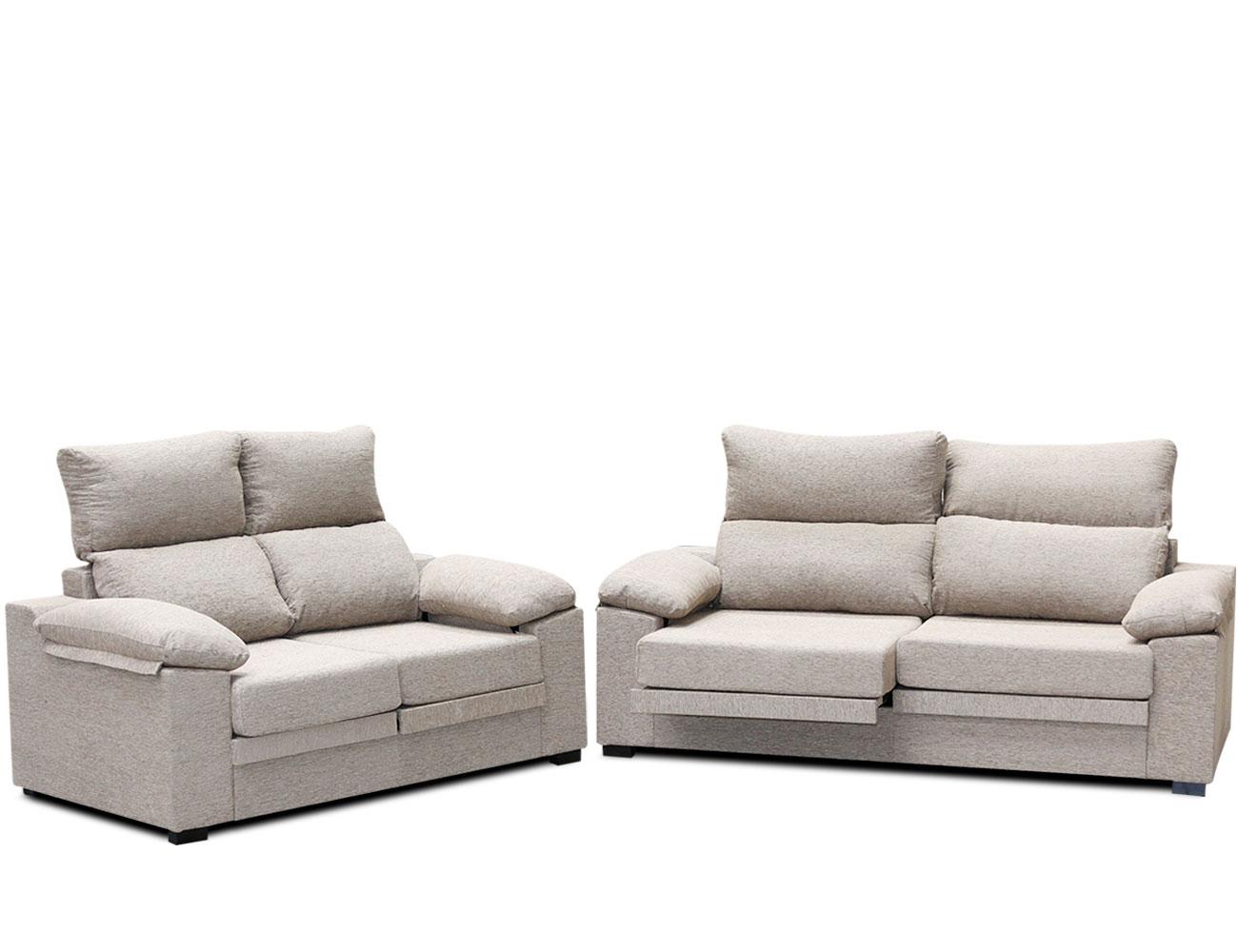 conjunto de sof 3 2 plazas con asientos extraibles y