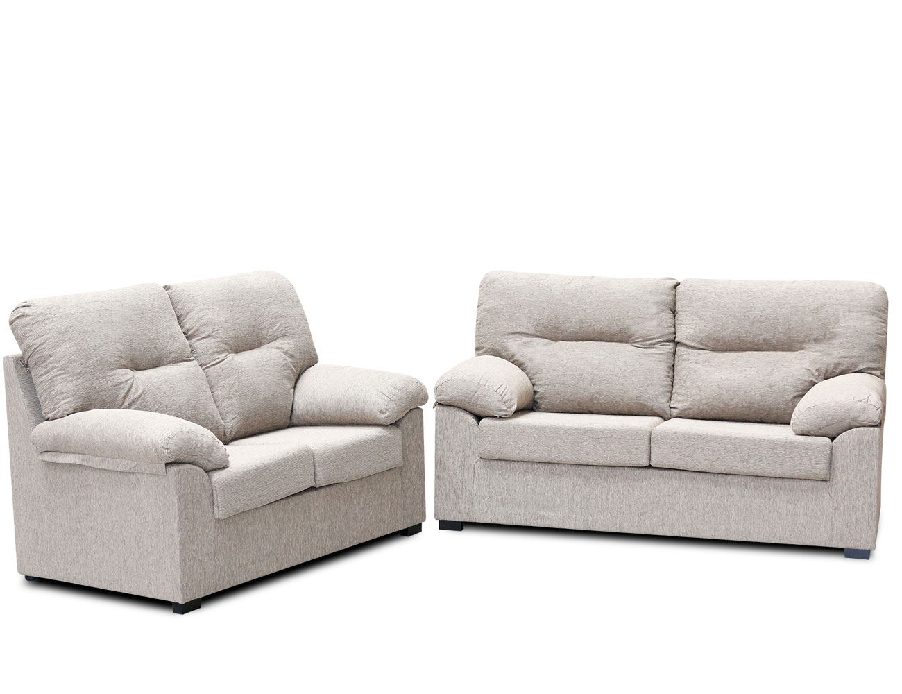 Conjunto de sof 3 2 plazas factory del mueble utrera for Sofa 2 plazas barato