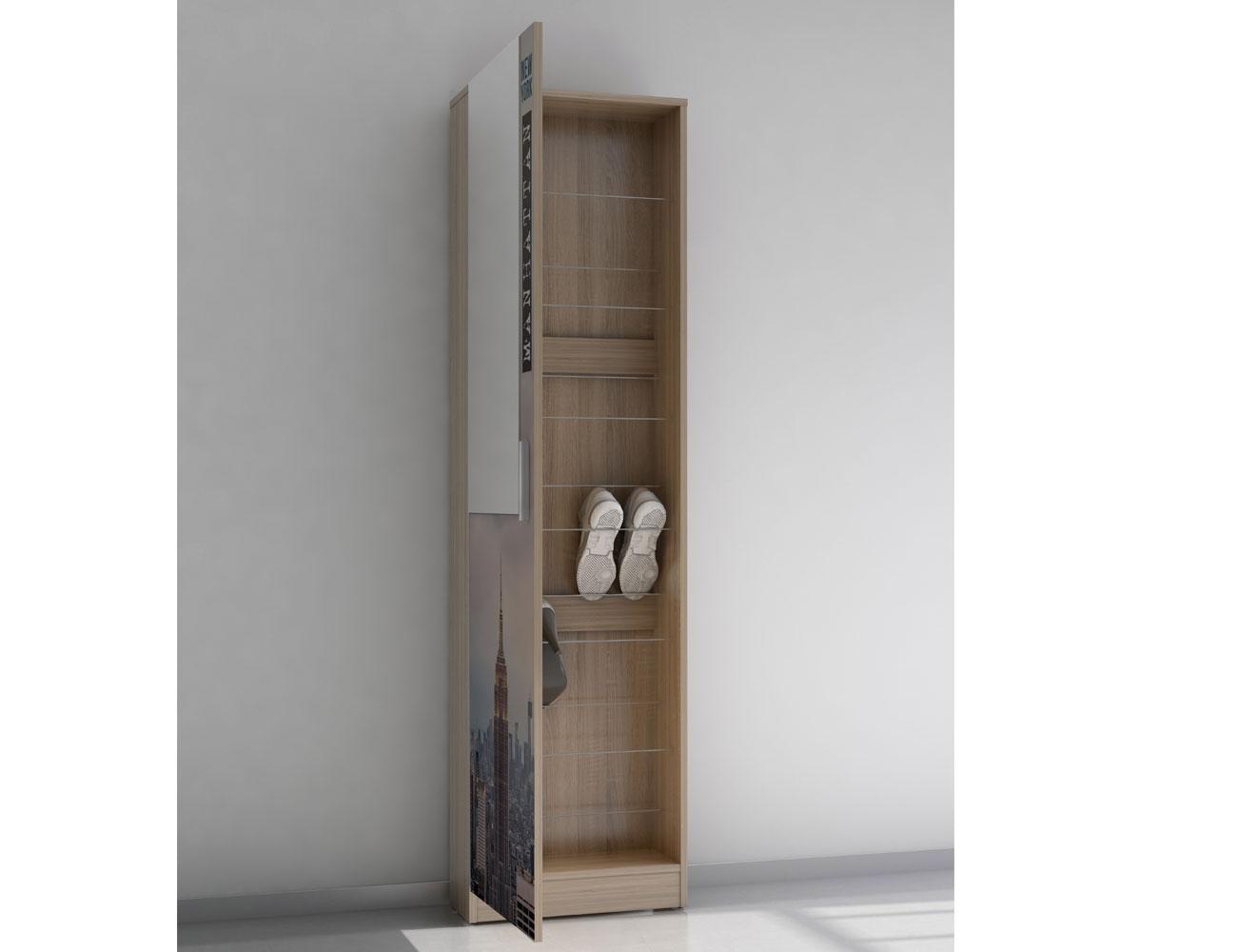 Recibidor zapatero con espejo Manhattan (4557) | Factory del Mueble ...