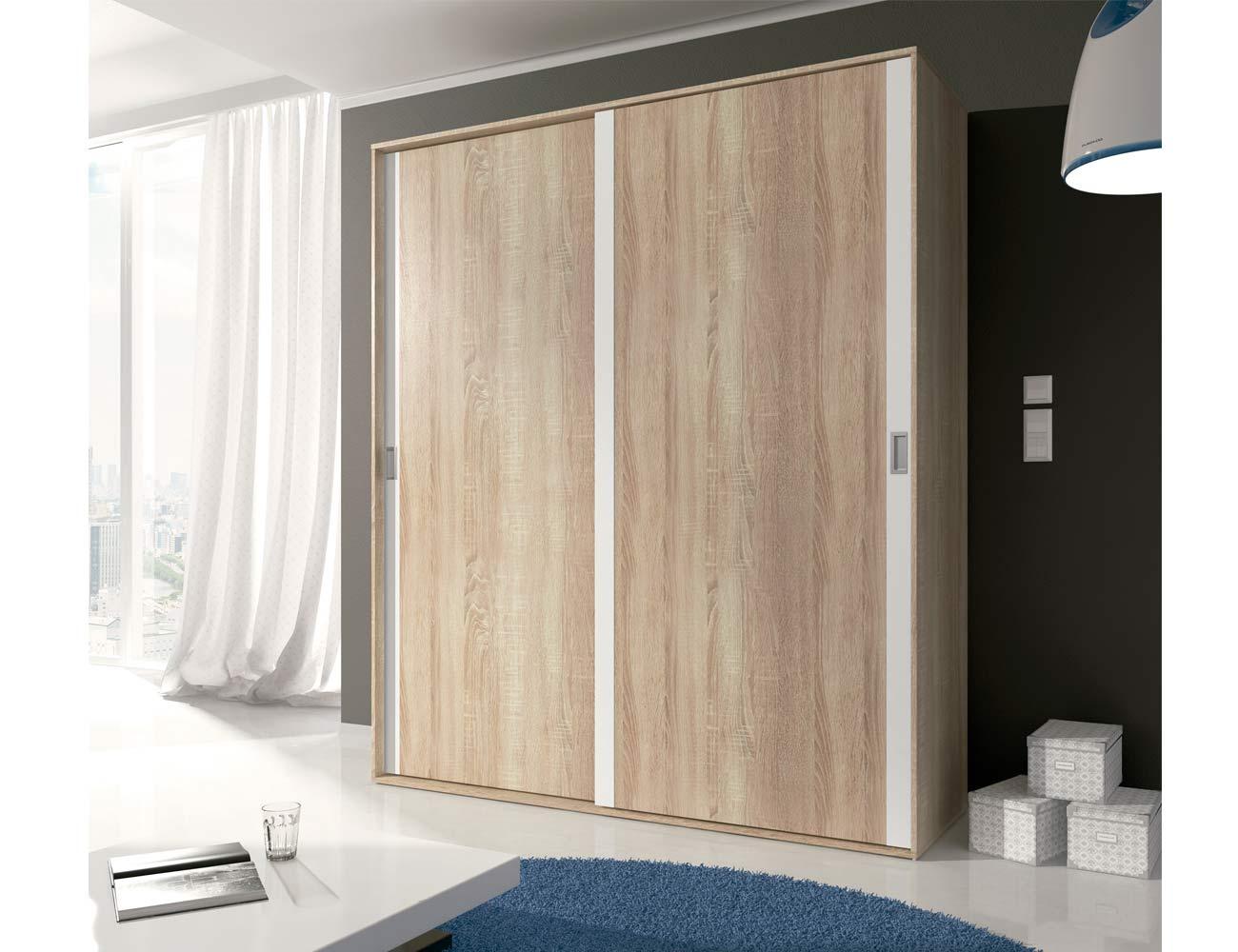 Detalle armario puertas correderas cambrian blanco