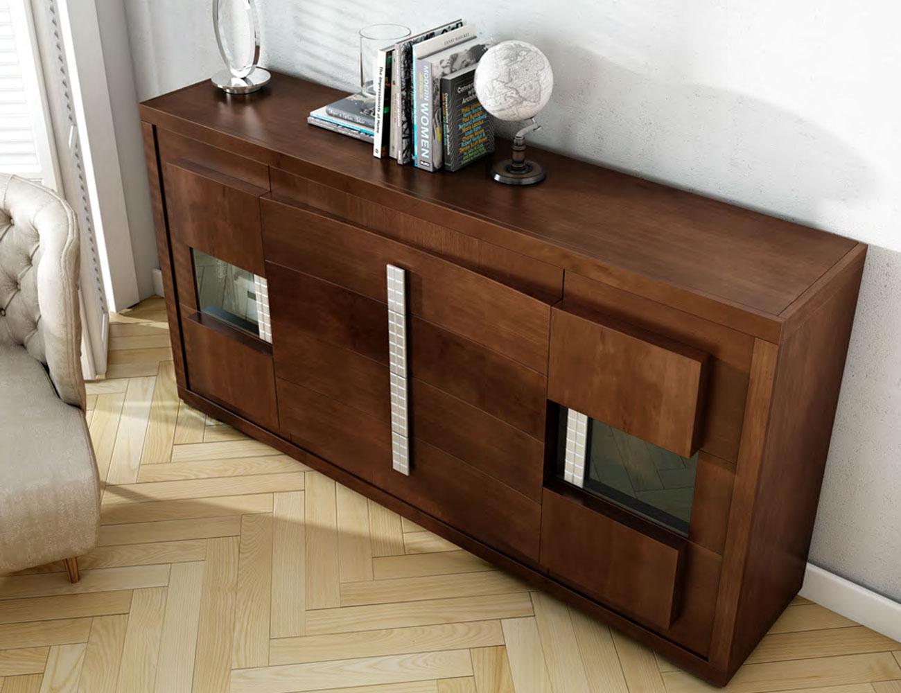 Detalle mueble aparador nogal classic