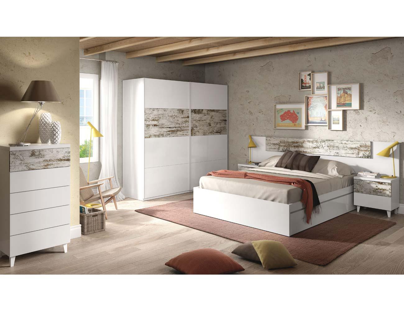Dormitorio blanco vintage1