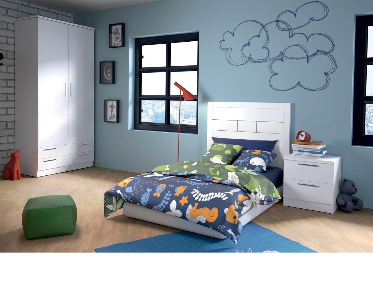 Dormitorio juvenil 55 blanco1