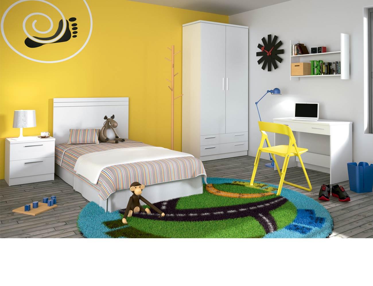 Dormitorio juvenil 59 blanco1