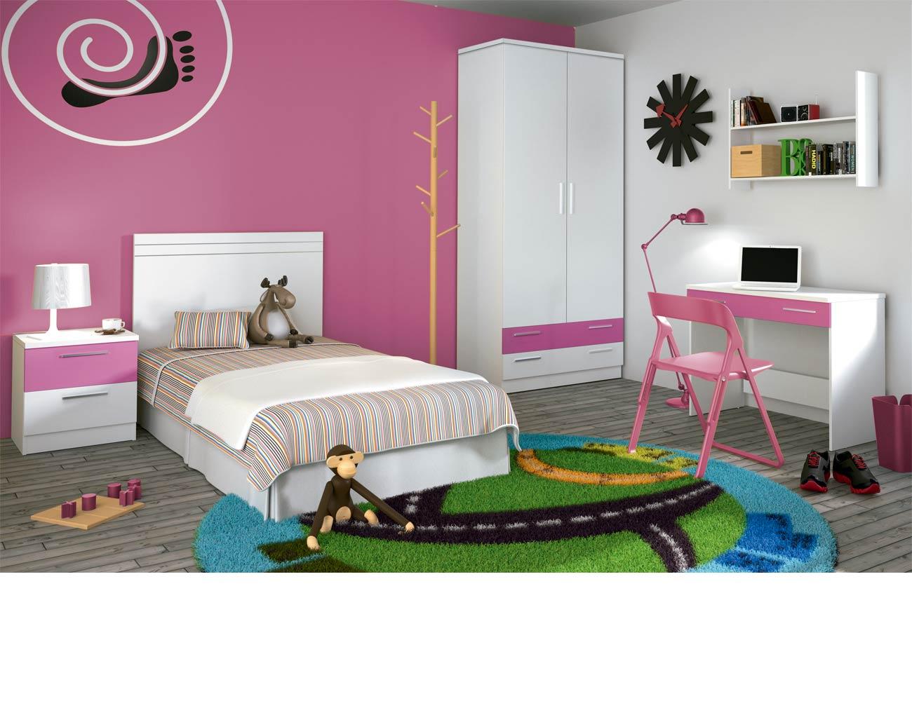 Dormitorio juvenil 60 blanco1