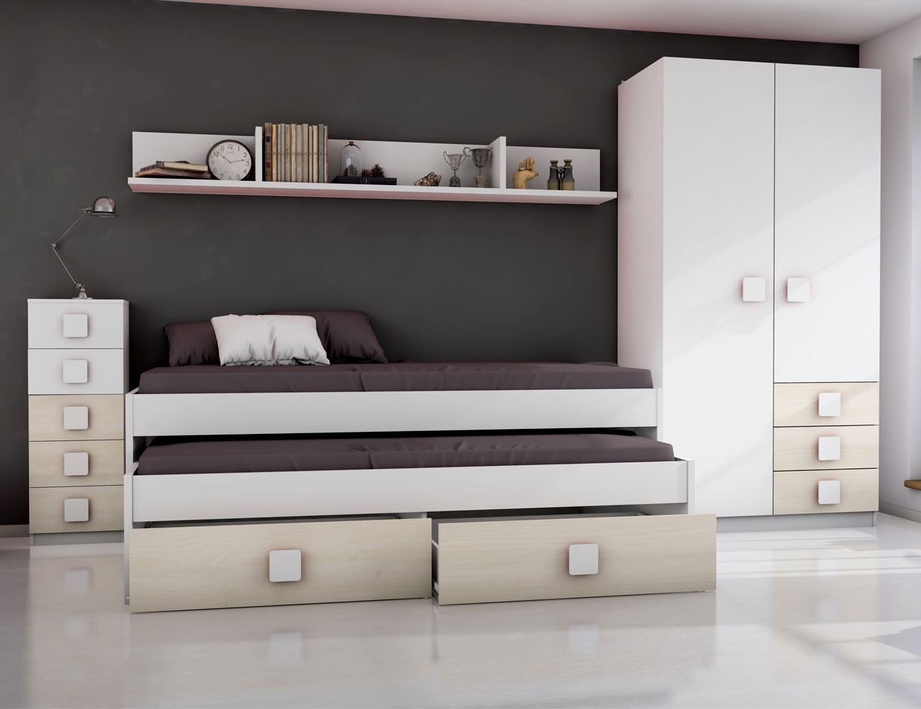 Dormitorio juvenil akazie blanco5