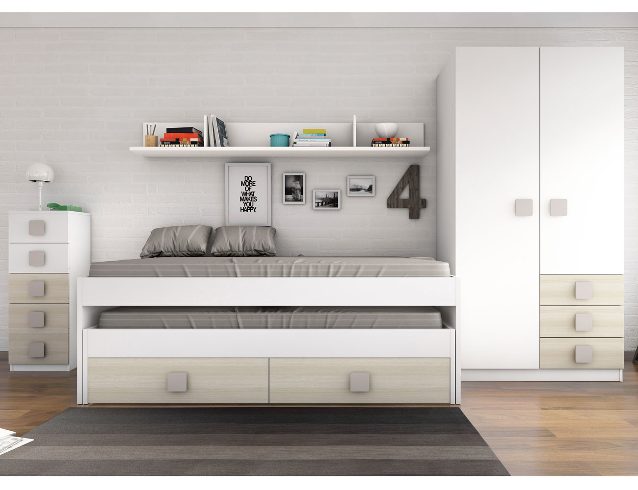 Dormitorio juvenil akazie moka5