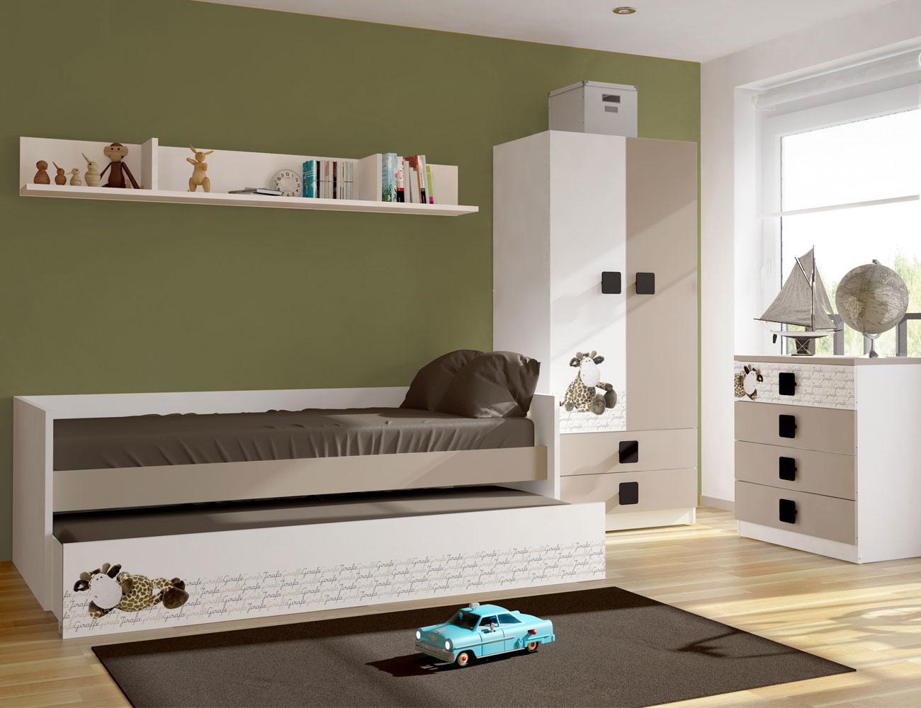 Dormitorio juvenil jirafa 2