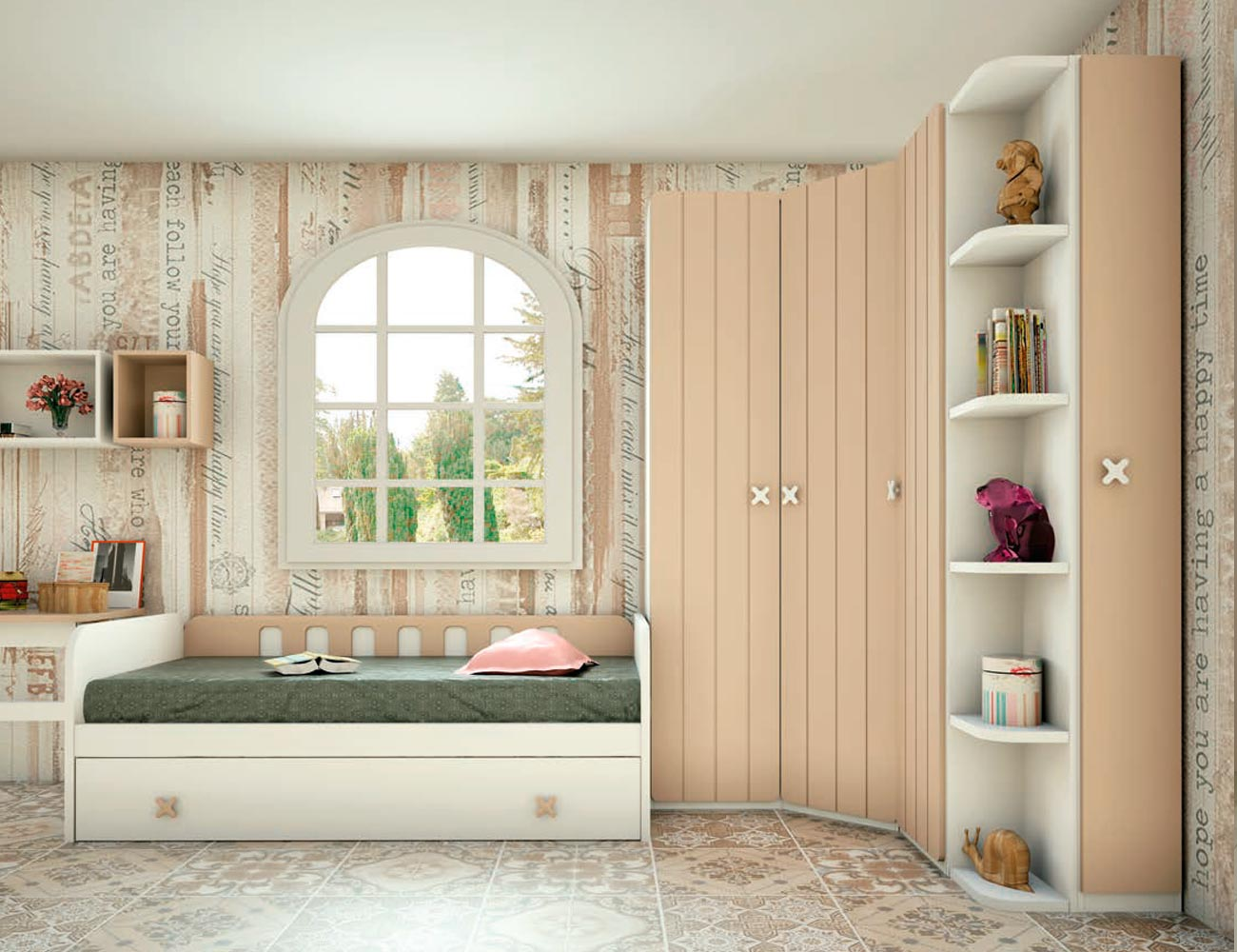 Dormitorio juvenil madera 119 2