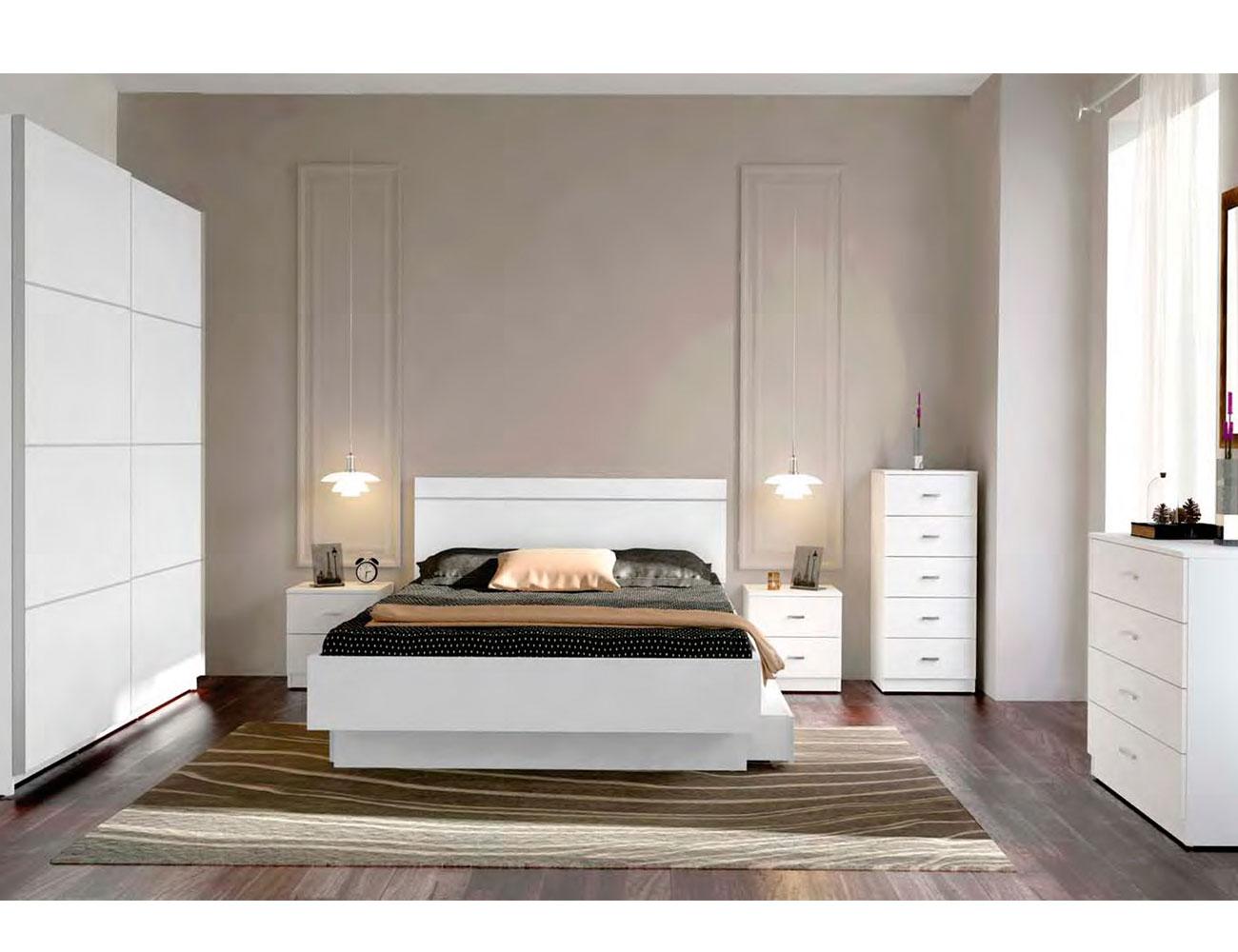 Dormitorio matrimonio blanco barato 2