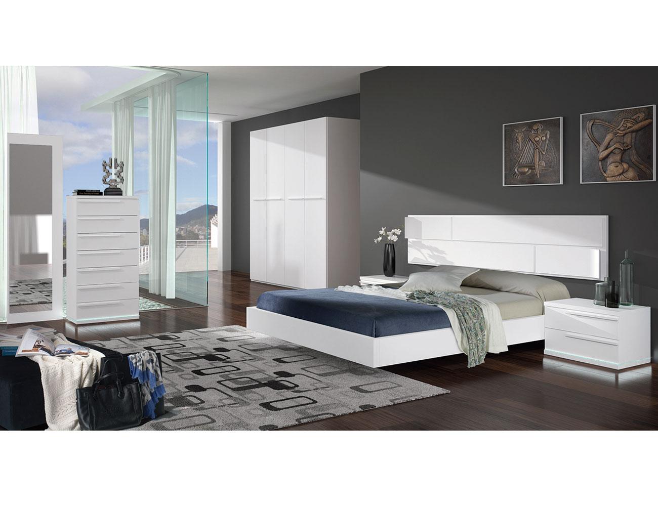 Dormitorio matrimonio blanco calidad 2