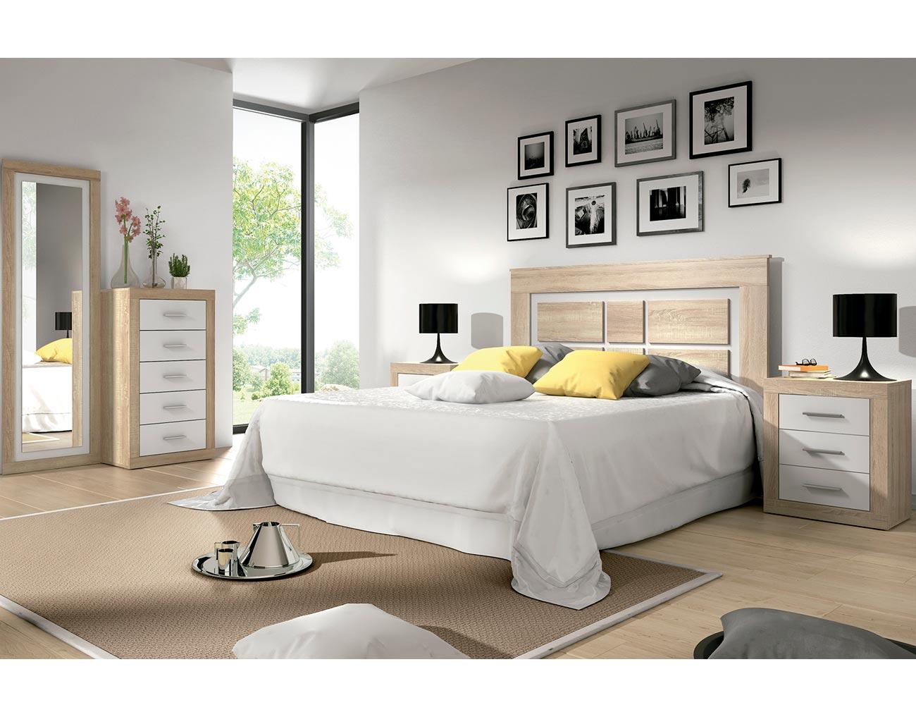 Dormitorio matrimonio estilo moderno cambrian blanco 2134 factory del mueble utrera - Muebles utrera ...