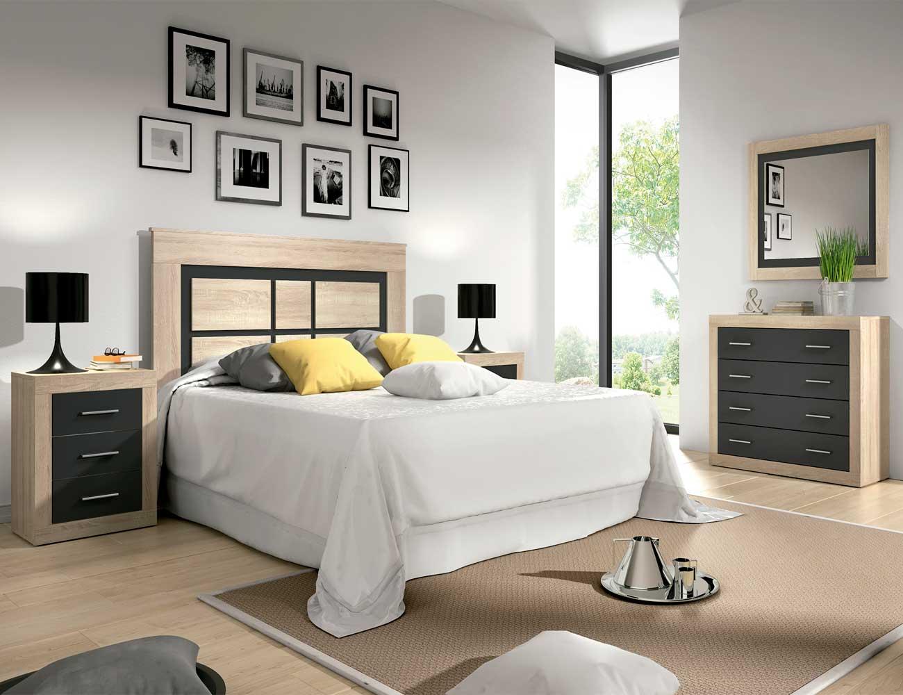 Dormitorio matrimonio estilo moderno cambrian grafito
