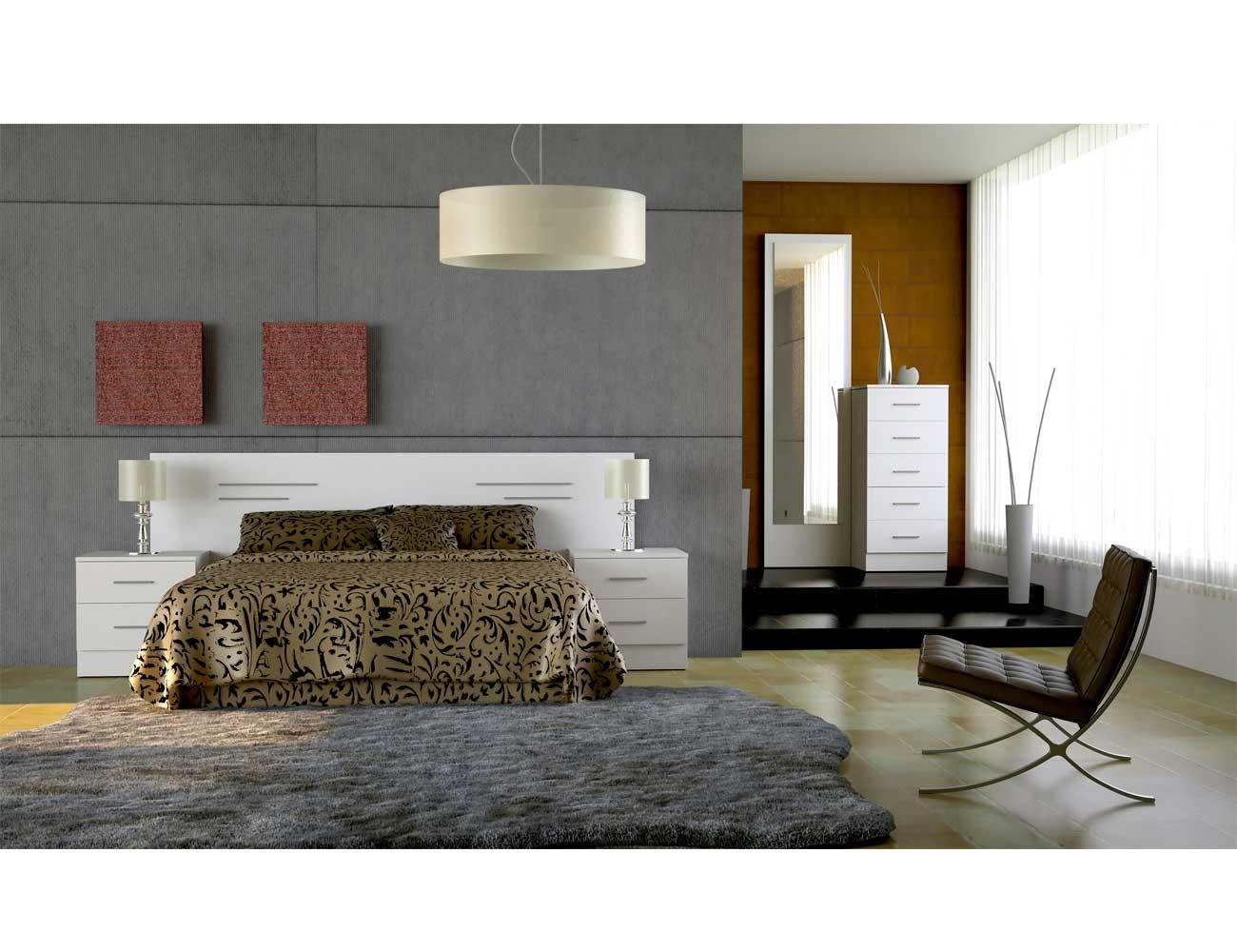 Dormitorio matrimonio estilo moderno expo blanco