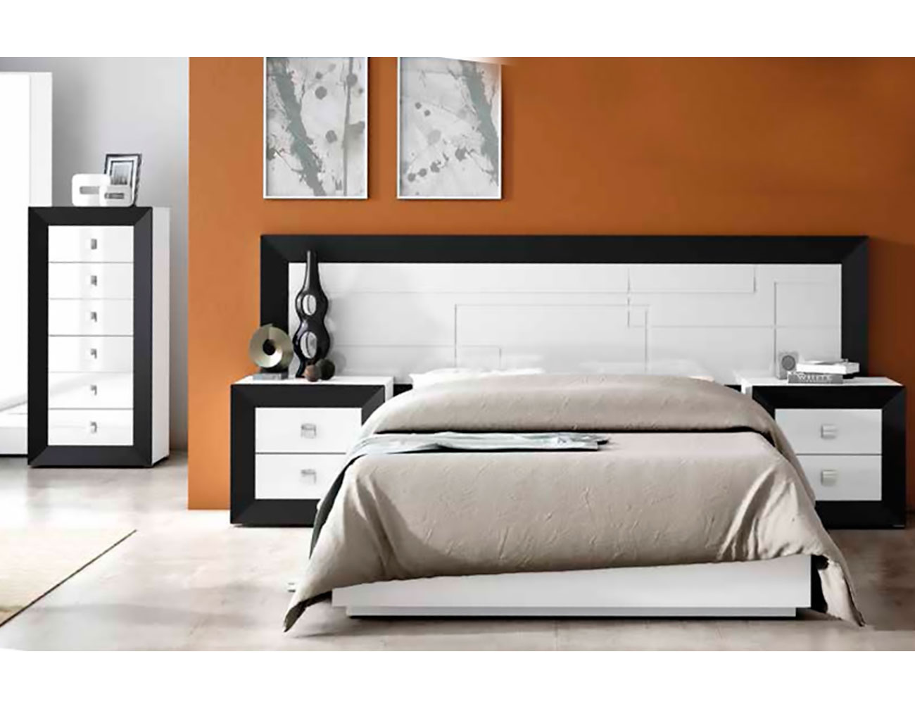 Dormitorio matrimonio lacado 012