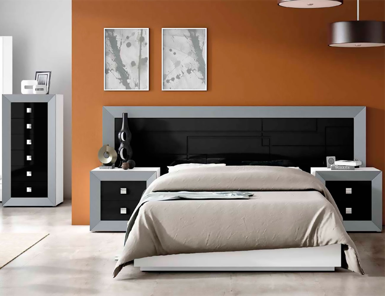 Dormitorio matrimonio lacado 033
