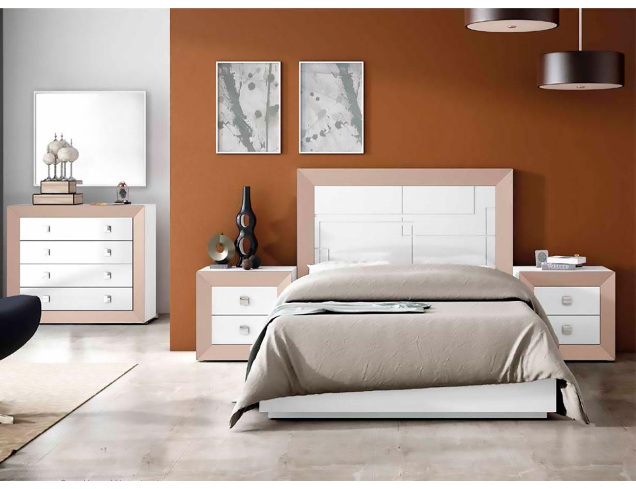Dormitorio matrimonio lacado 052