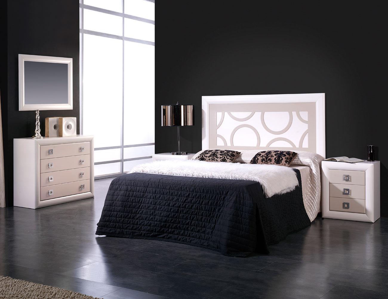Dormitorio matrimonio lacado blanco roto piedra1