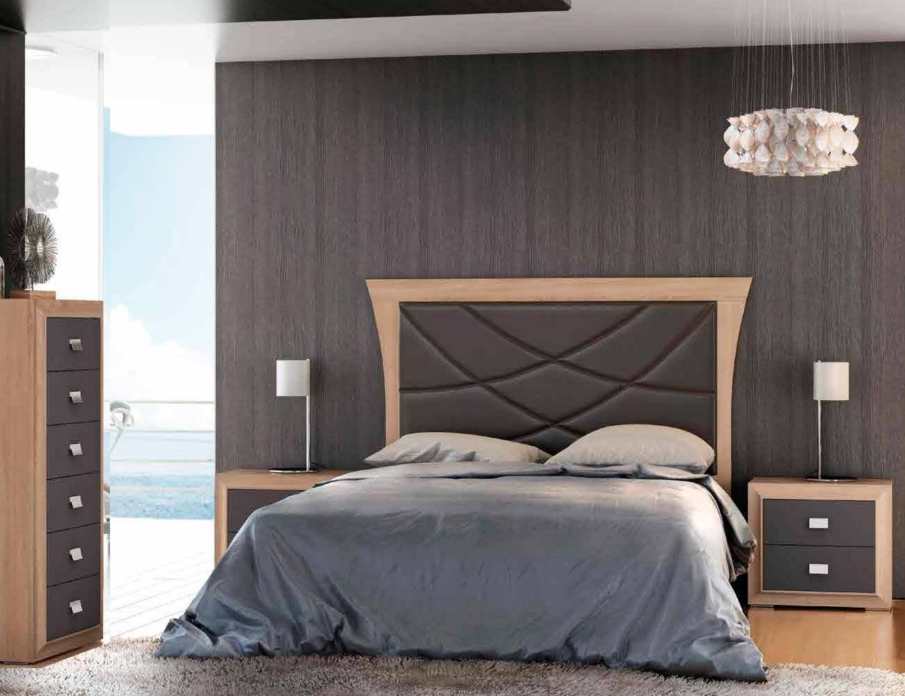 Dormitorio matrimonio nogal cambrian grafito 11