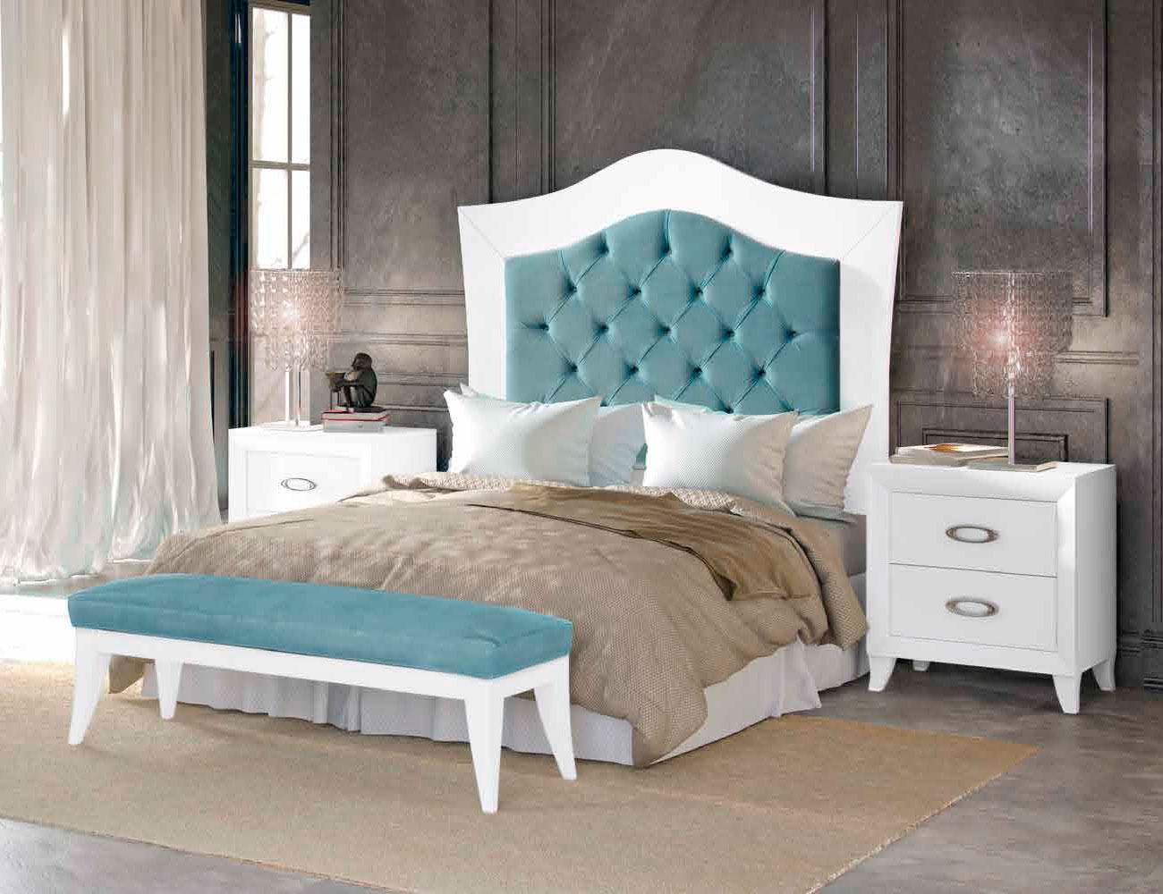 Dormitorio matrimonio romantico turquesa patas isabelinas 2