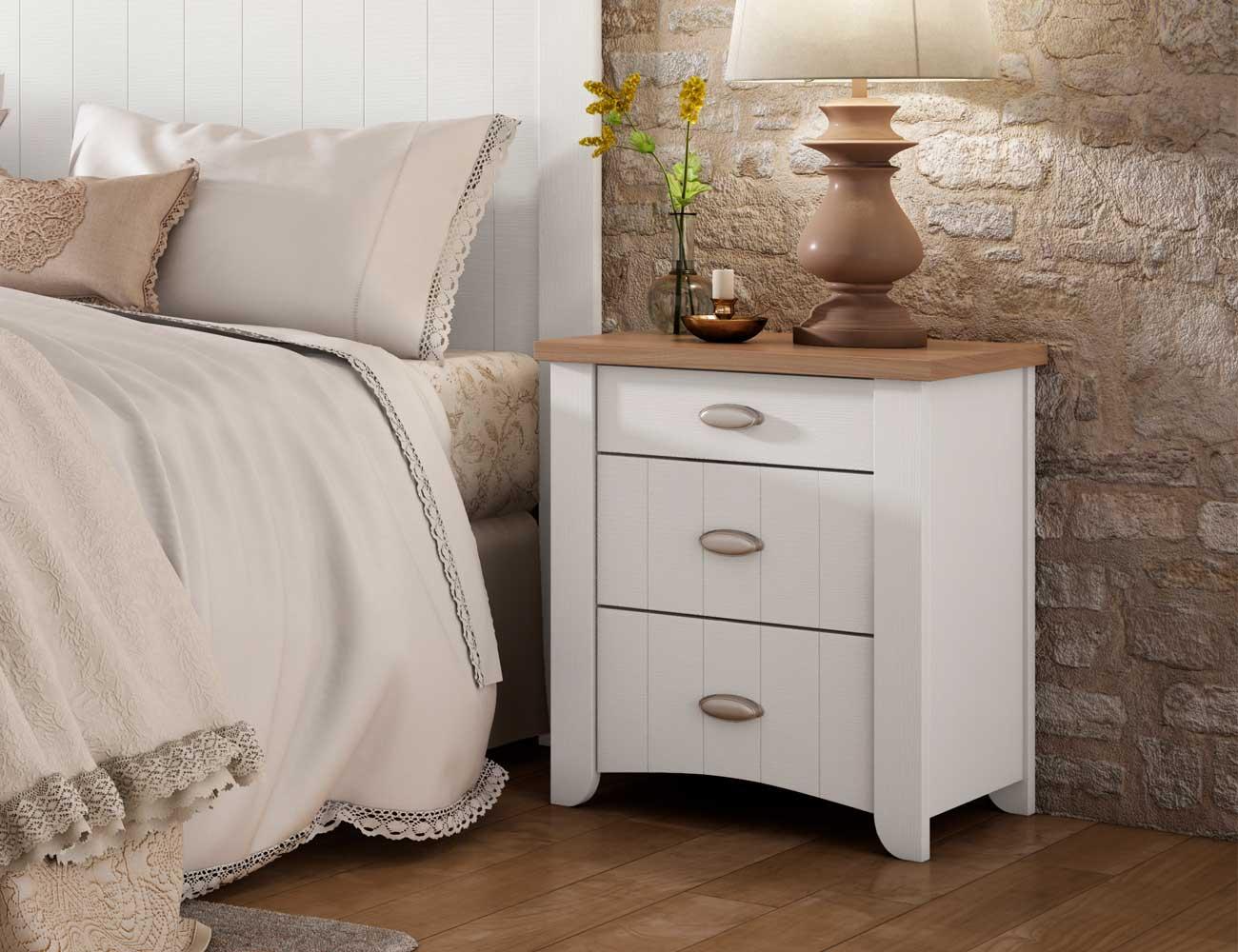 Dormitorio de matrimonio Wind de estilo colonial en blanco (23212