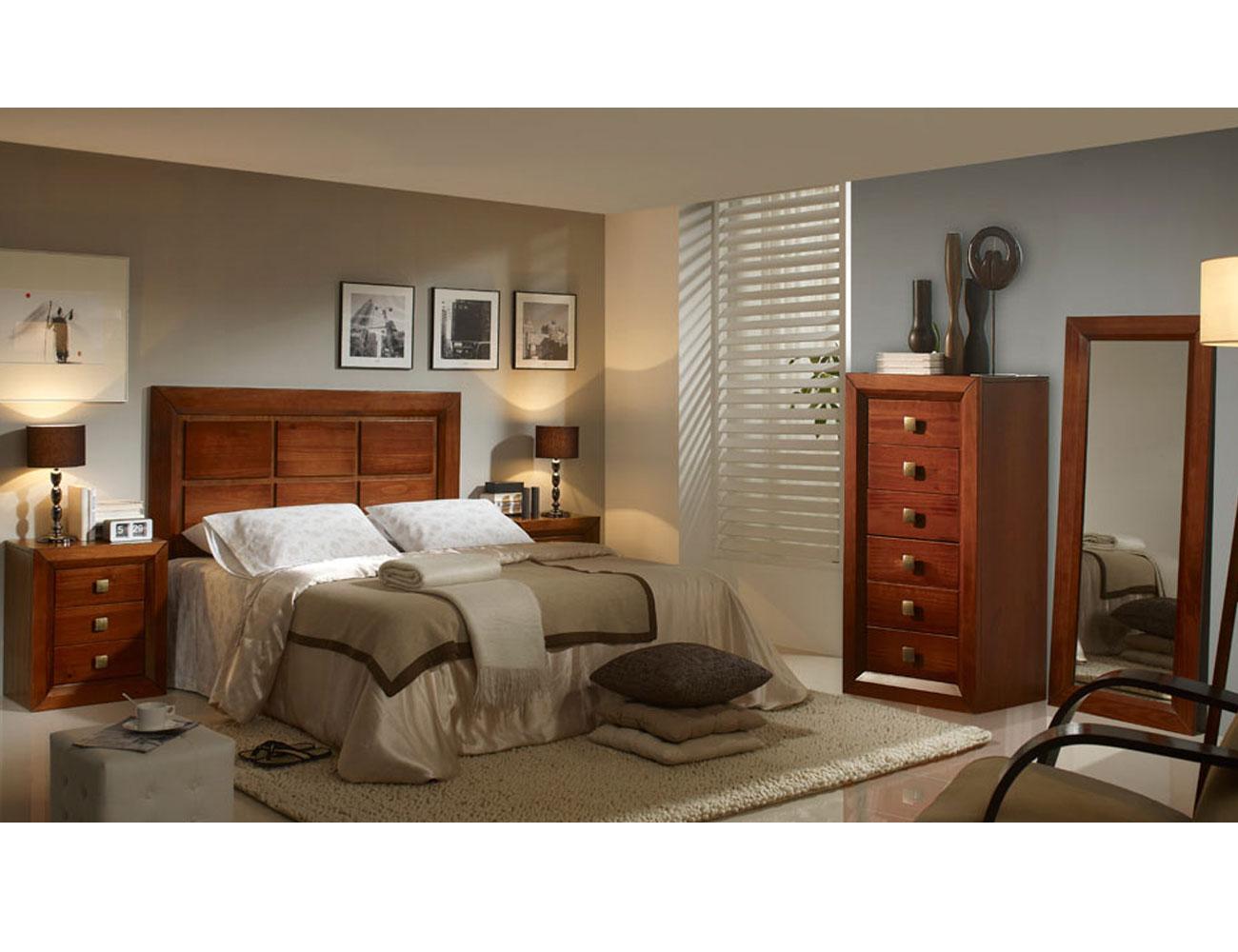 Dormitorio matrimonio sinfonier nogal madera dm2